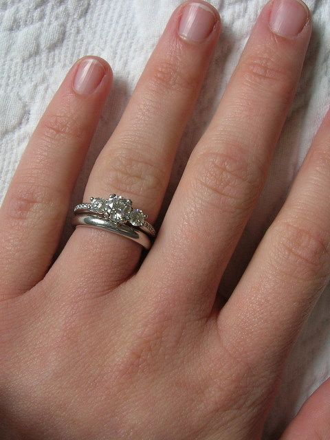 3mm Band With Trio Ring