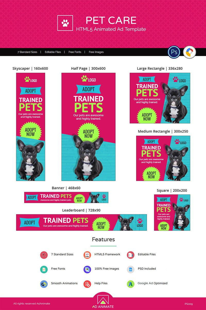 Professional Services Pet Care Banner Animated Banner 71825