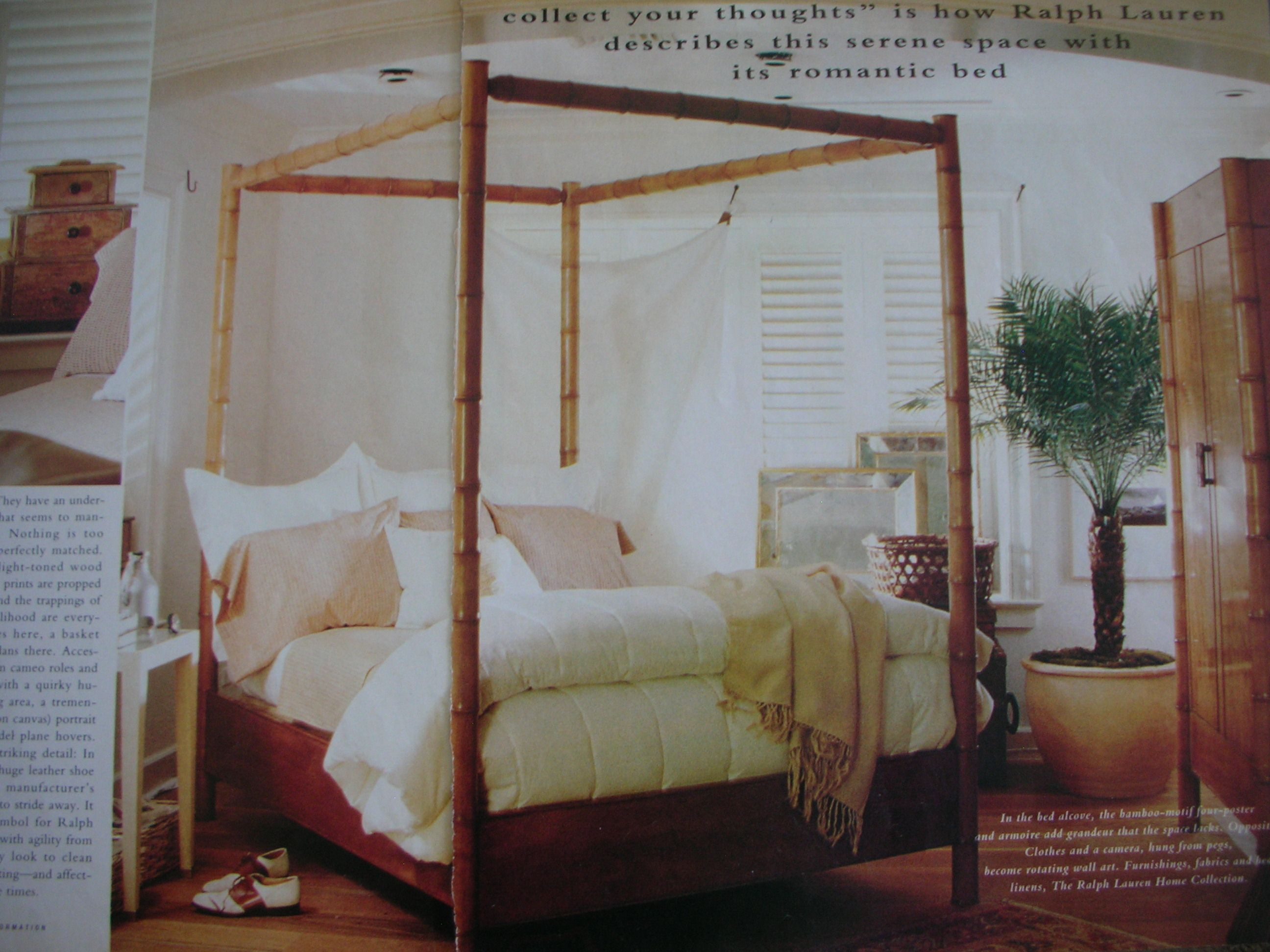 Bamboo four poster bed The Martinique Collection