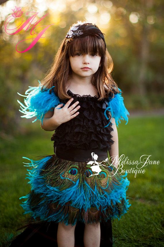 Peacock Passion Girls Dress