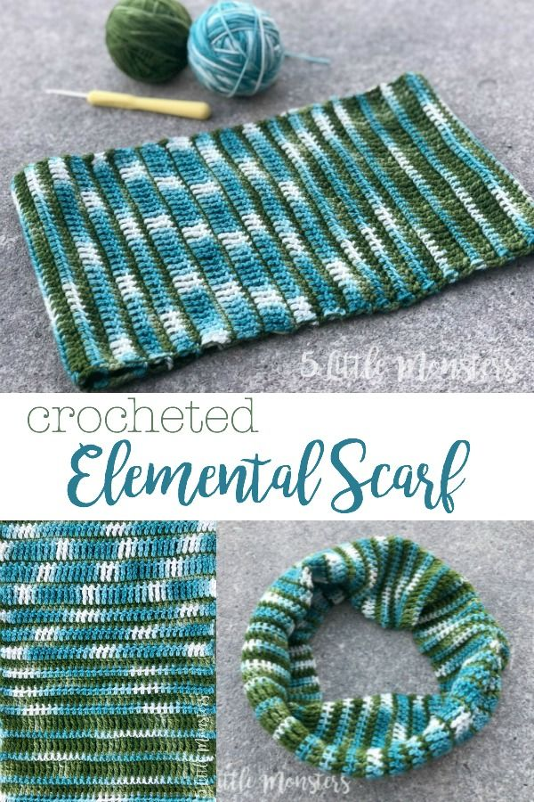 Crocheted Elemental Scarf #crochetelements