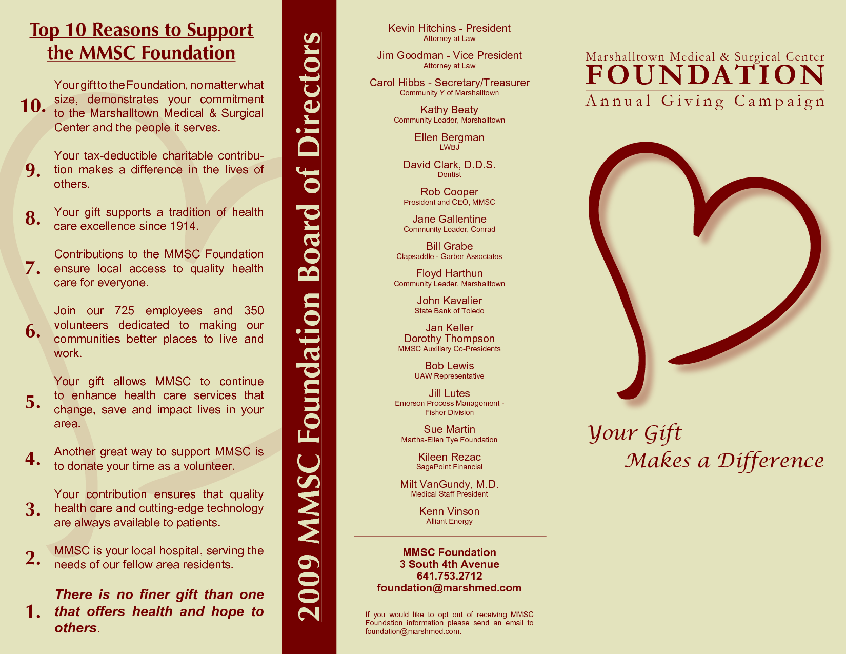 foundation brochure samples