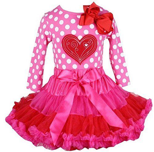 Kirei Sui Girls Hot Pink Red Pettiskirt Polka Dots Heart
