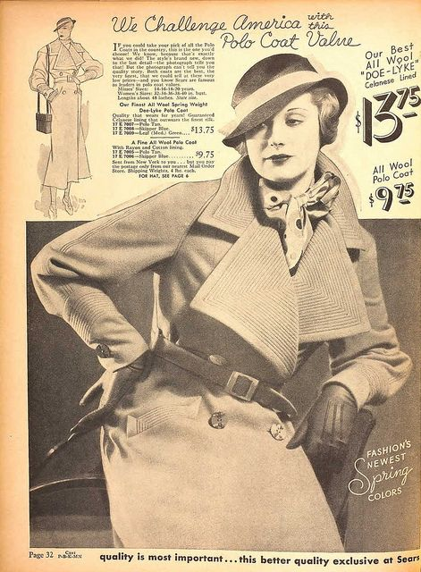 All Wool Polo Coat c.1934 5e7fa27d593