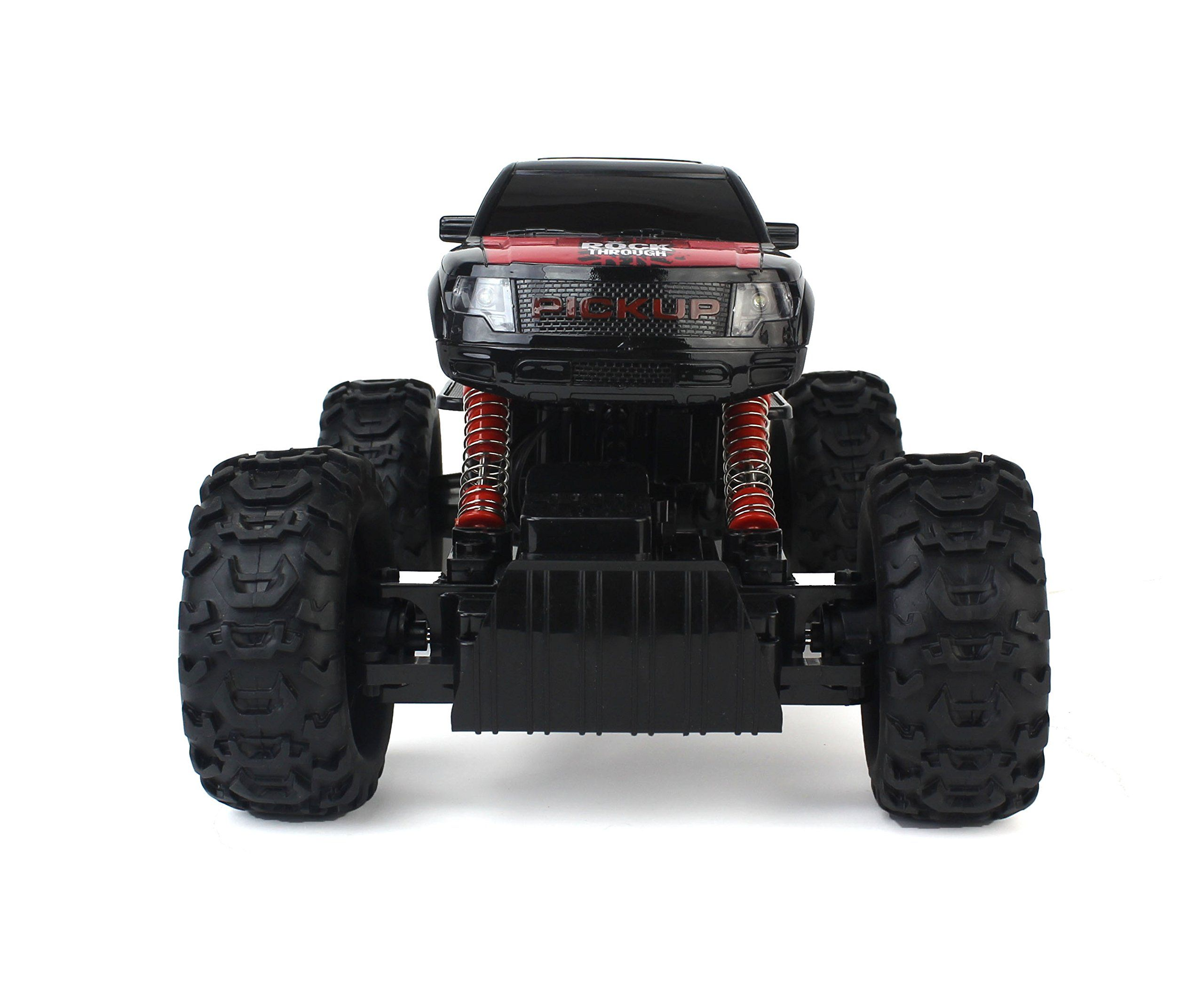 CrossCountry Racing Rock Crawler 4WD Toy Black Rally Truck RC Car