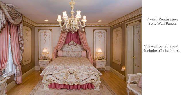 French Renaissance Architectural Wall Panels Victorian Bedroom Bedroom Decor Cozy Bedroom Design