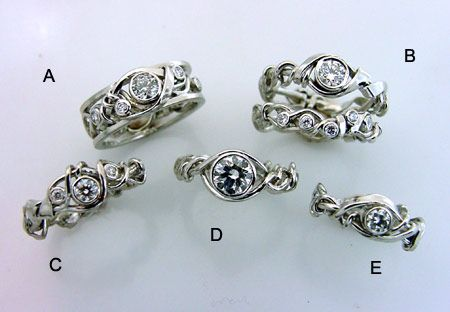 Maitland, ring, wedding, art, engagement, nature, vines, trellis, platinum