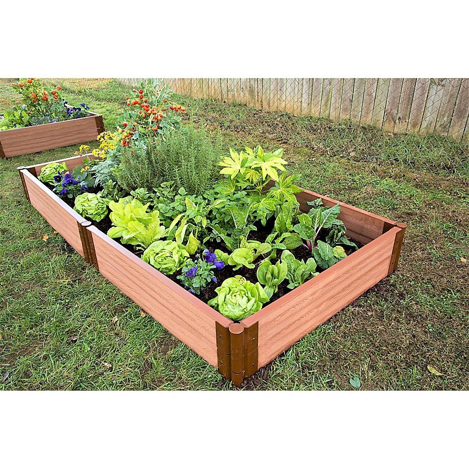 Frame It All 4 X 8 Raised Garden Bed Sienna Raised Garden Beds