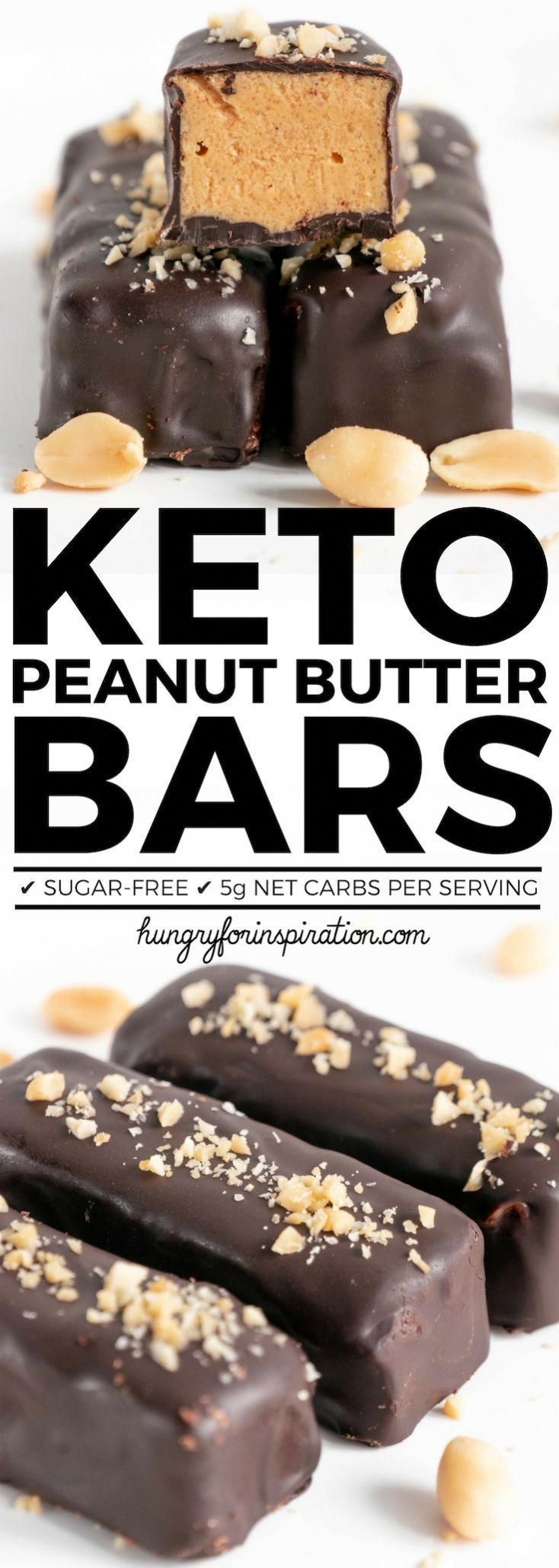 Peanut Butter Bars that'll satisfy your sweet cravings in no time! With 5g net carbs perfectly suitable for the ketogenic diet, as well as gluten-free and sugar-free. (Easy Homemade Keto Bars) ⎮