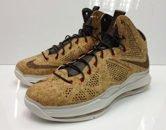size 40 4e51b 4fe3e Nike LeBron X Cork Classic Brown