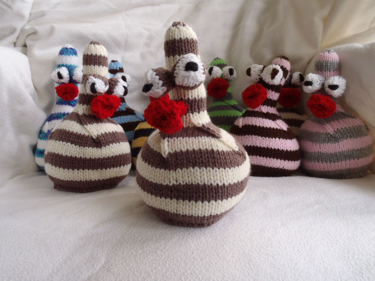 Free Knitted Amigurumi : Stana s critters etc knitting pattern for stripy knitted