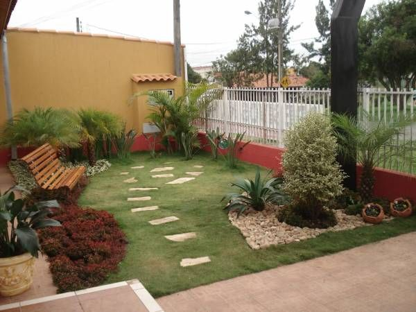 Jardim De Entrada Pequeno Com Grama Pesquisa Google Jardins