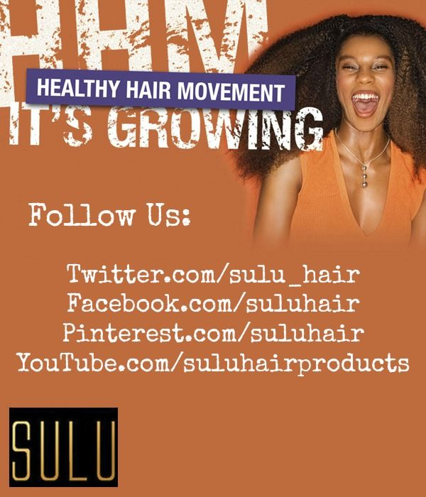 We would love for you to connect with us socially:    http://Twitter.com/sulu_hair  http://Pinterest.com/suluhairproducts  http://YouTube.com/suluhairproducts