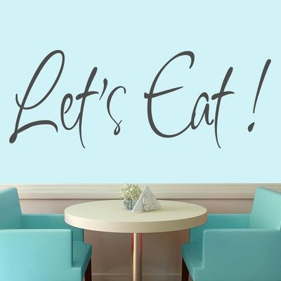 SweetumsWallDecals Let's Eat Wall Decal Color: Dark Gray