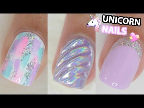 HOW TO DO UNICORN HORN NAILS WITH GEL POLISH