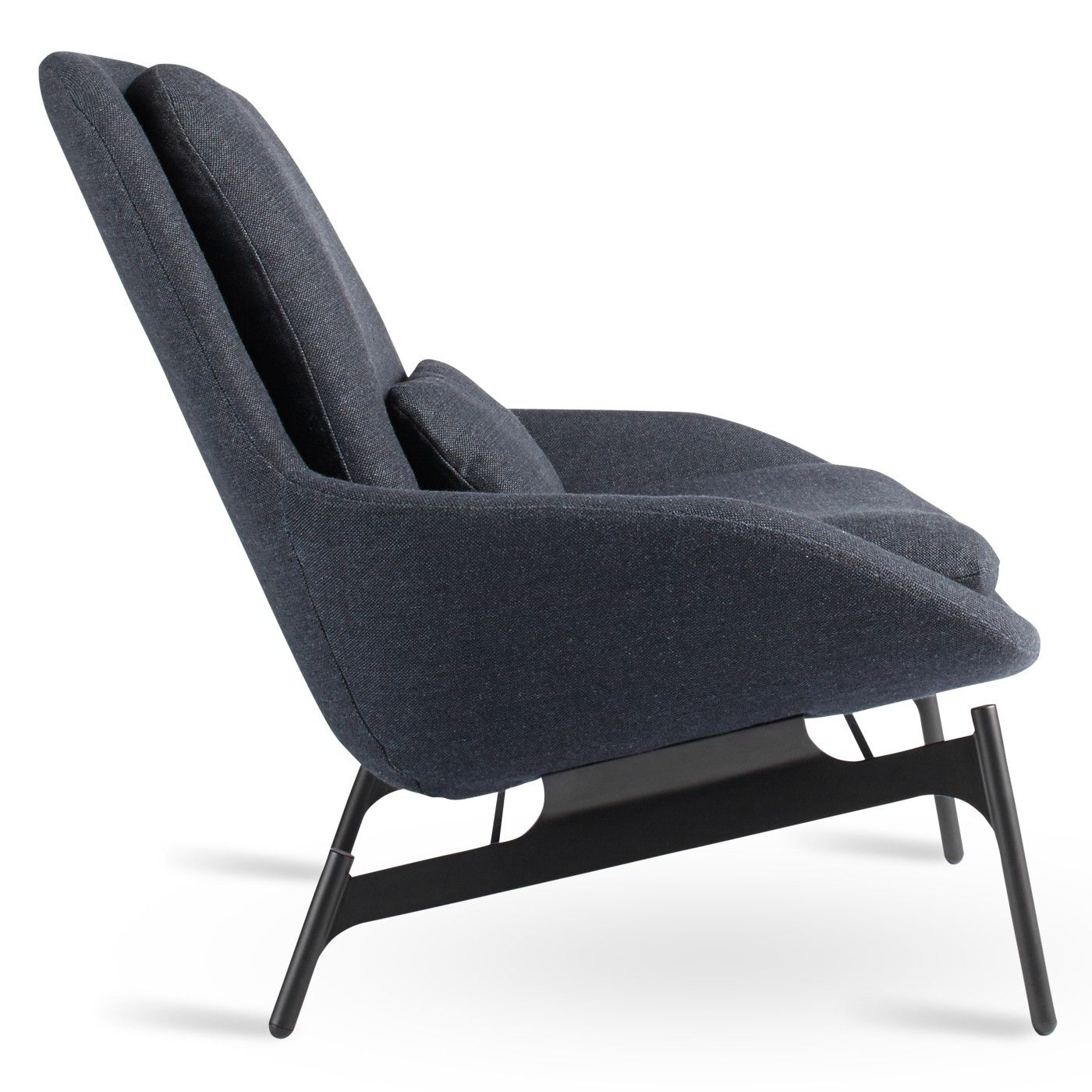 Field Navy Blue Modern Reading Chair  Side