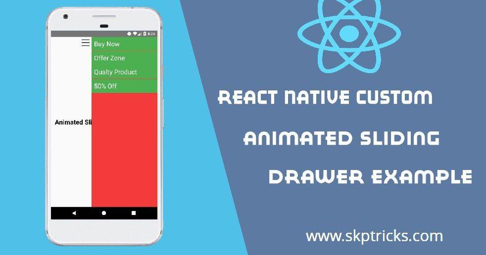 React Native Custom Animated Sliding Drawer Example Learn