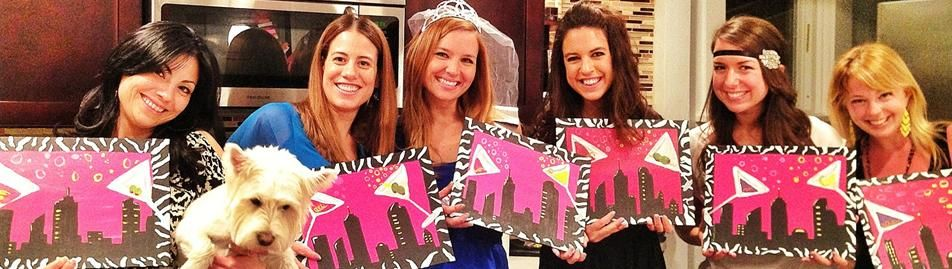 Bachelorette Painting Party with Gallery On The Go!