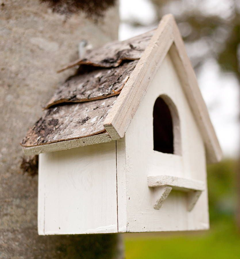 White Scandi Bird Box by The Forest & Co
