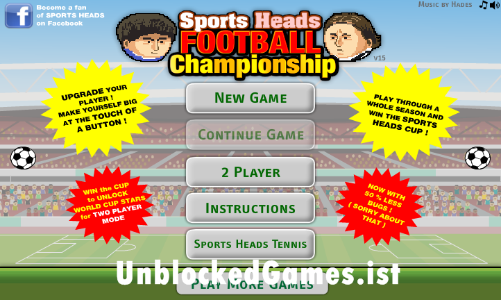 Play Sports Heads Soccer Unblocked For Free At Unblocked Games Head Soccer Big Head Football Sports Head