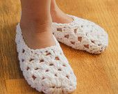 Instant Download - Crochet Patterns - My Pretty Slippers (Child size 1 to Woman size 12)