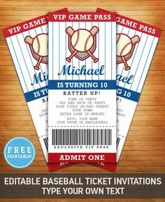 Baseball Party Invite More