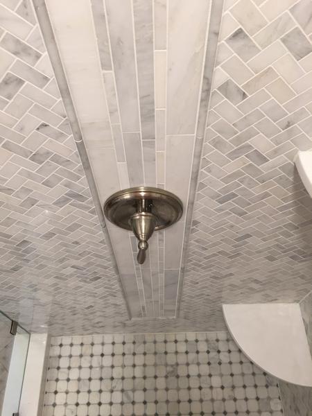 Carrara Carrera Venato Marble Mosaic 1 X2 Herringbone Herringbone Mosaic Tile Polished Marble Tiles Marble Shower Tile