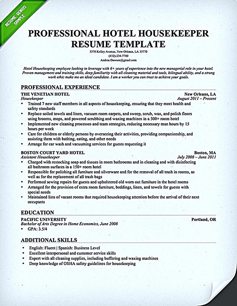 What A Resume Should Contain extracurricular activities resume template valid part 5 chronological resume template format build sample Housekeeper Resume Should Be Able To Contain And Highlight Important Aspects That Will Help You Getting