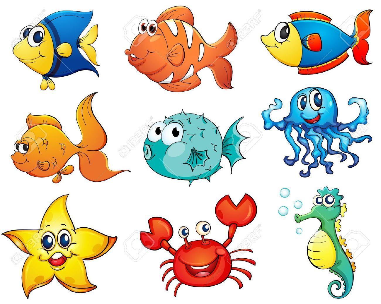 Stock Vector With Images Cartoon Fish Fish Vector Mini Canvas Art