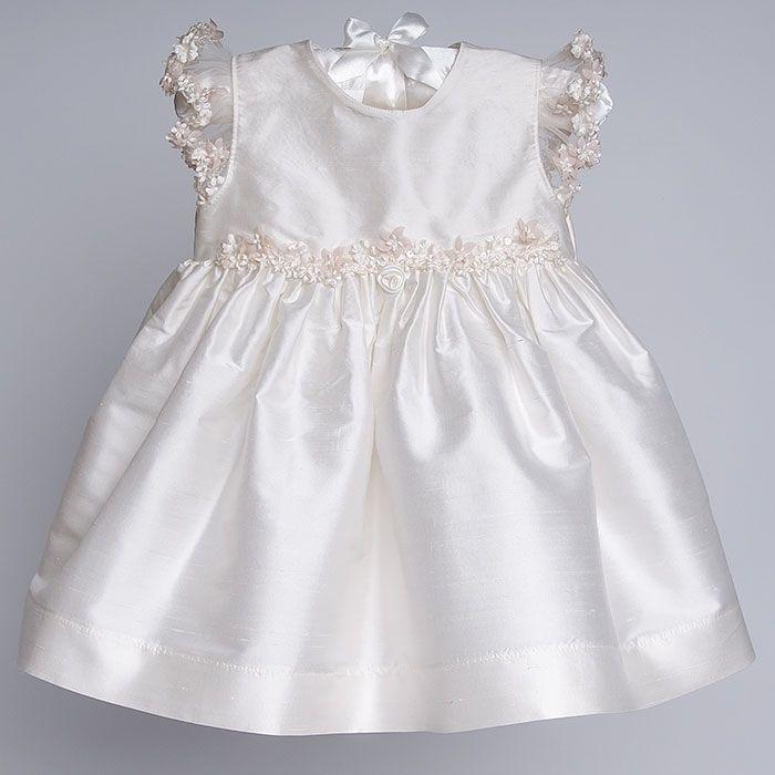 Baby Girl Silk Christening Dress - Leila Christening & Baptism ...
