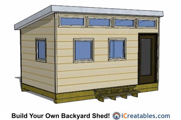 10x16 Modern Shed Plans With Door On The End 10x16 Shed Plans