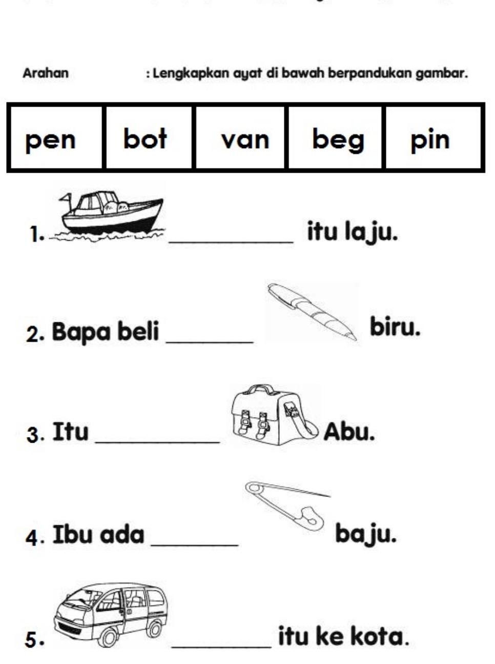 Soalan Ujian Bahasa Melayu Prasekolah In 2020 Writing Sentences Kindergarten Preschool Worksheets Kindergarten Reading Worksheets