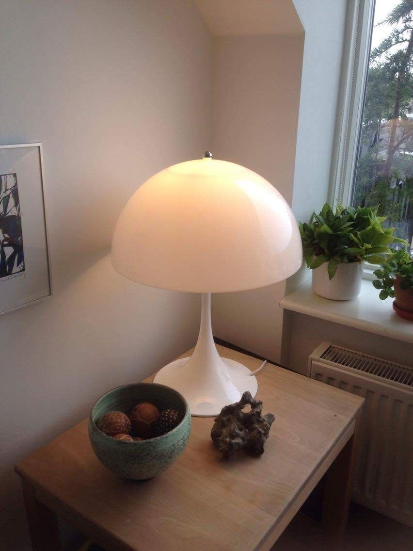 Oppsiktsvekkende Panthella Bordlampe Verner Panton Louis Poulsen   Lampe billeder RD-43
