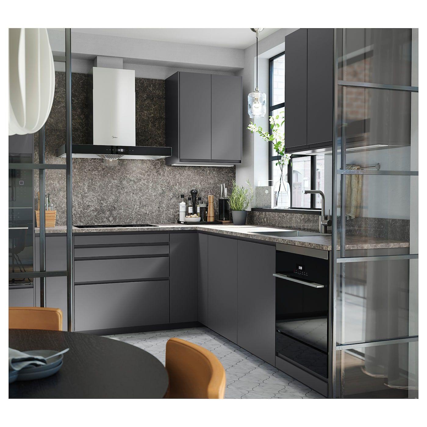 Ekbacken Arbeitsplatte Dunkelgrau Marmoriert Laminat Marmormuster Laminat Ikea Osterreich In 2020 Kitchen Models Countertops Kitchen Styling