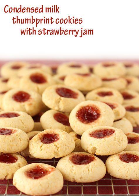 Condensed Milk Thumbprint Cookies Recipe Cookie Recipes Thumbprint Cookies Recipe Condensed Milk Recipes