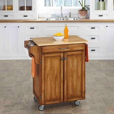 Create A Cart - Cottage Oak Create A Cart With Wood Top - 9001-0061 - Home Depot Canada
