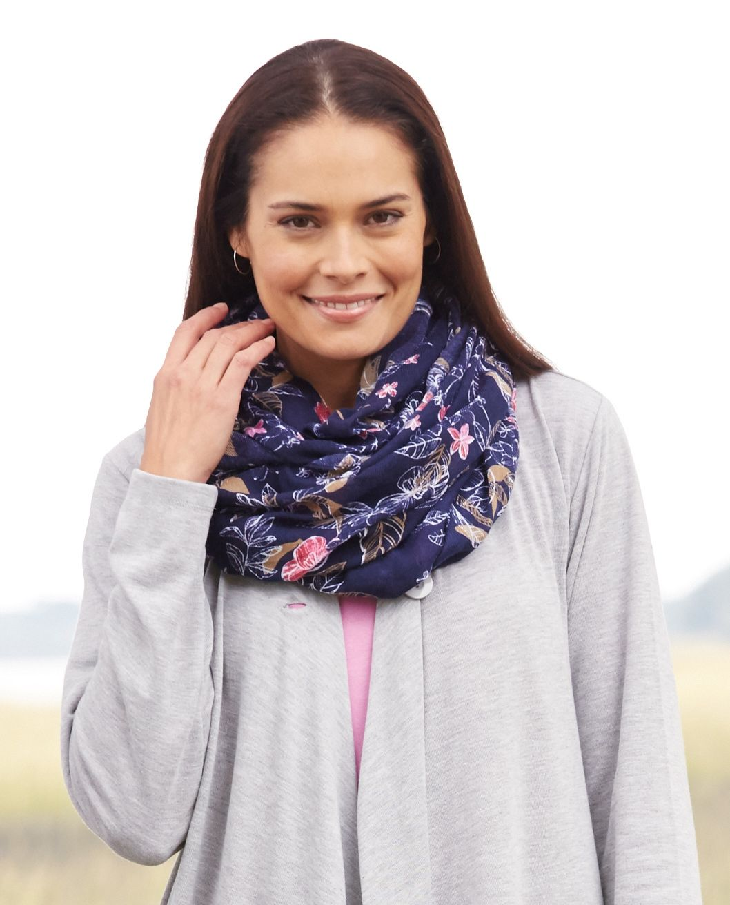 Printed infinity scarf Plus Size Fashion from Woman Within