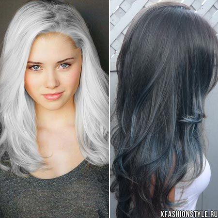 фото седой цвет волос