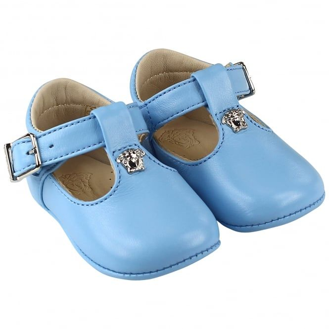 Young Versace baby boys leather shoes