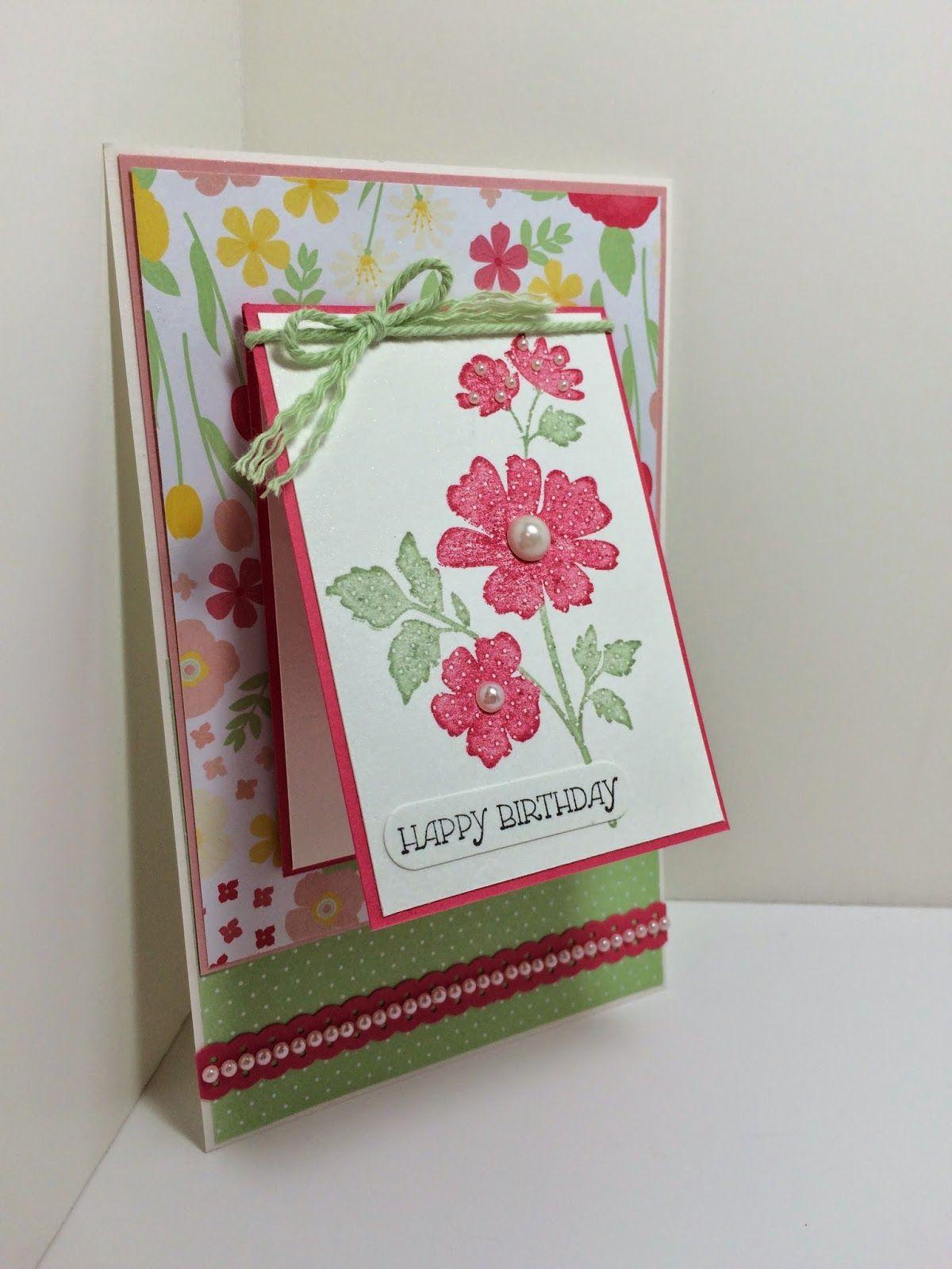 Цветами, скрапбукинг открытка внутри