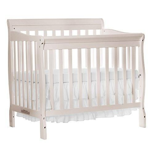 Lovely Dream On Me Aden Convertible 4 In 1 Mini Crib French White