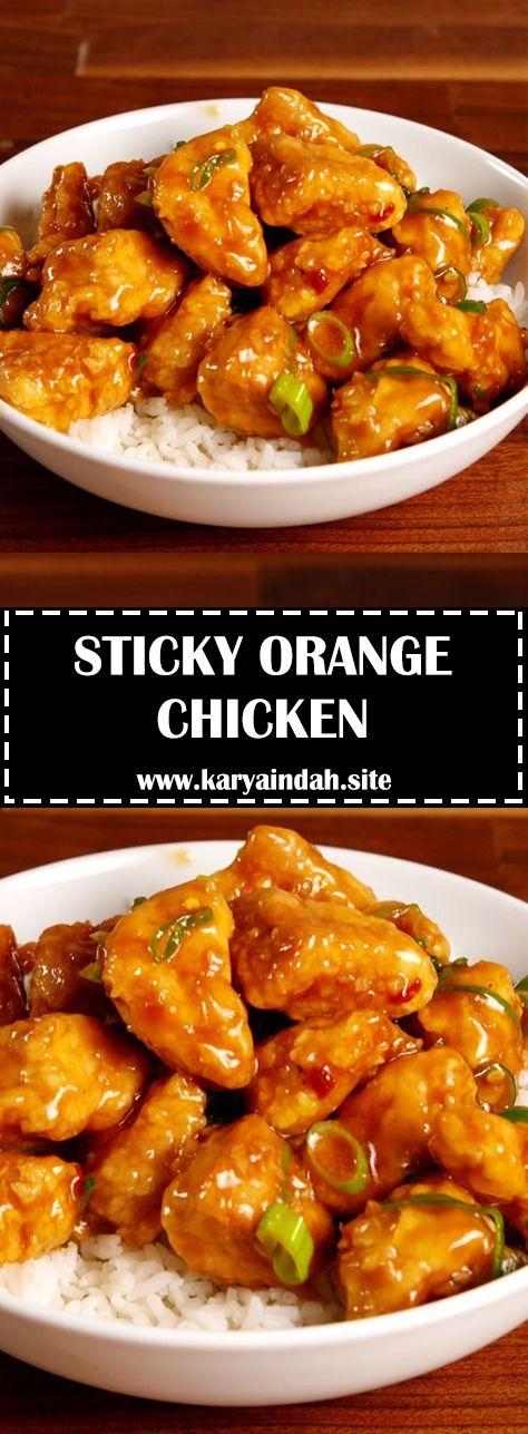 Sticky Orange Chicken #Chicken #Recipes images
