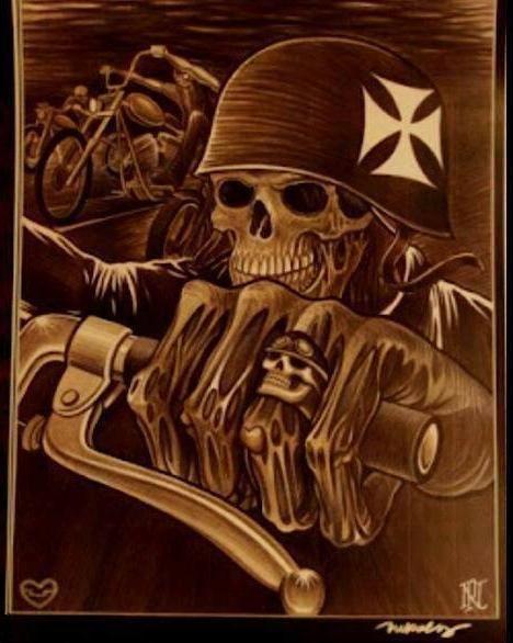 The Iron Cross Biker Skulls Grim Reapers Pinterest Skull Art