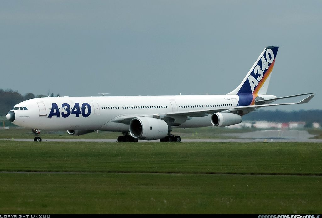 The A340 300 Prototype Testing The A380 Rr Trent 900 Engine With