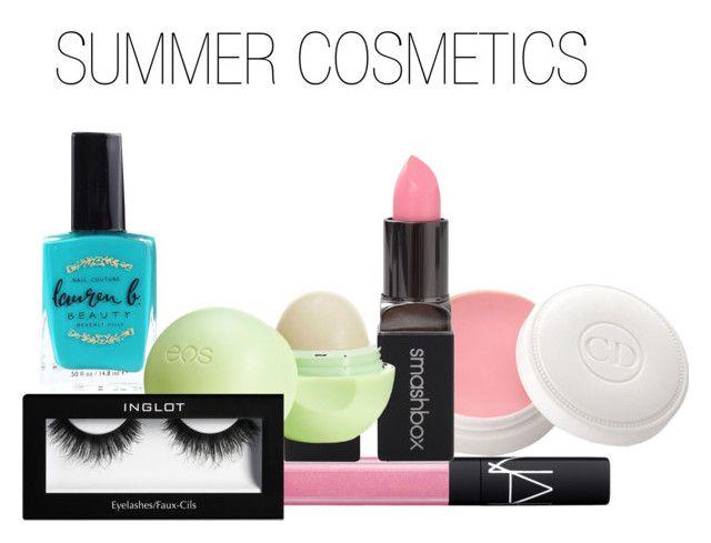 """Summer cosmetics"" by gmoney24 ❤ liked on Polyvore featuring schoonheid, NARS Cosmetics, Lauren B. Beauty, Christian Dior, Smashbox en Eos"