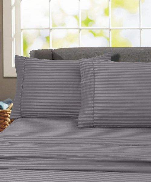 Look at this Gray Hotel London Sheet Set on #zulily today!