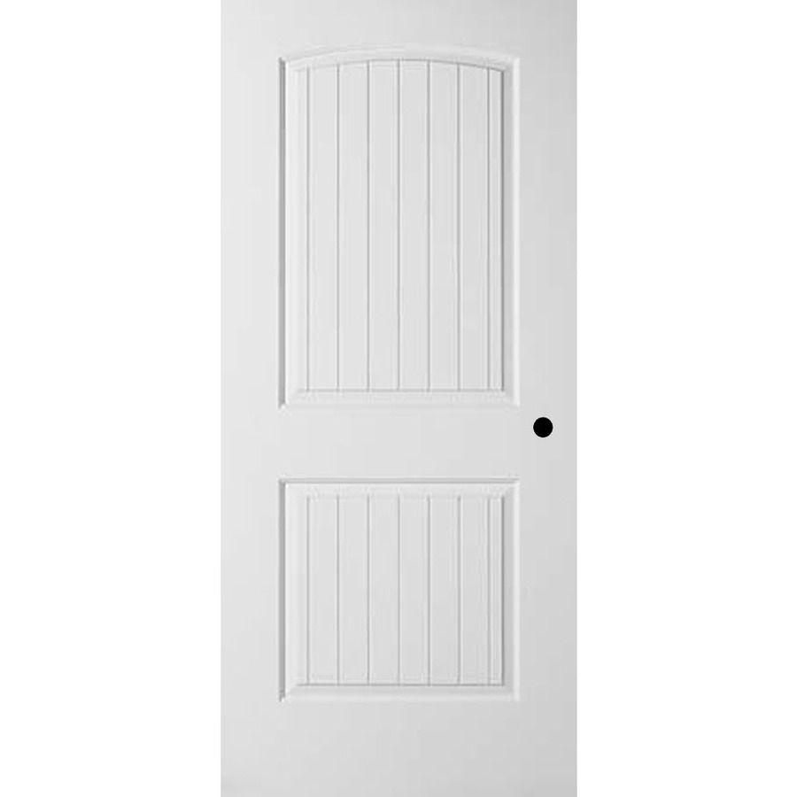 73 Reliabilt 2 Panel Round Top Plank Single Prehung Interior Door