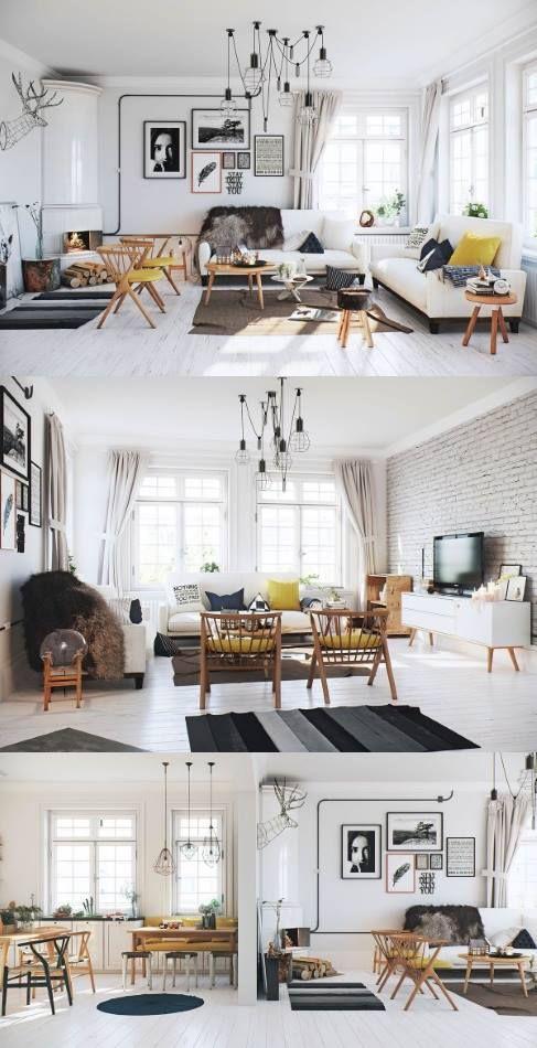 Décoration salon style scandinave ultra design et moderne | Déco ...
