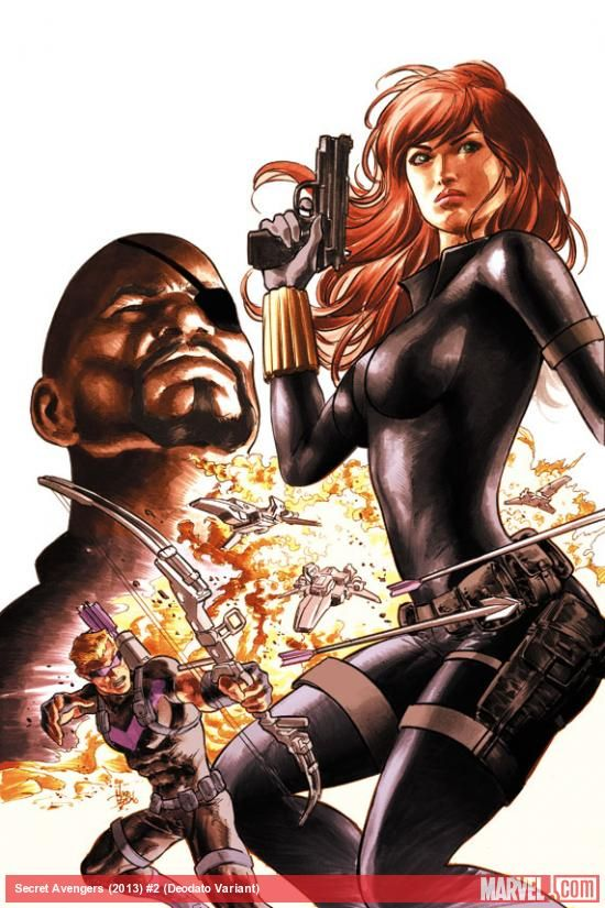 Secret Avengers (2013) #2 variant cover by Mike Deodato