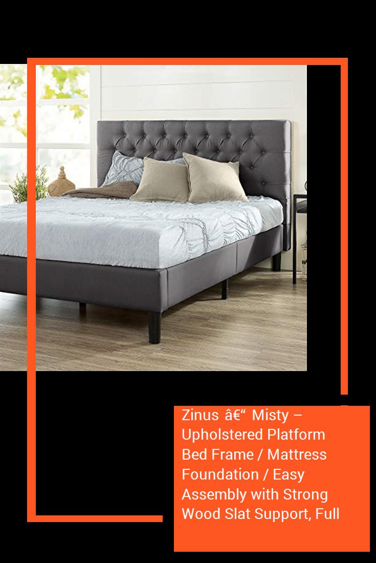 Zinus – Misty Upholstered Platform Bed Frame